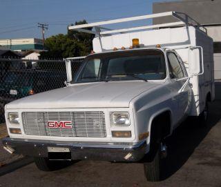 1989 Gmc Sierra Sl Utility Body - Ex Mechanical - V8 / Auto - Low Min - Reg photo