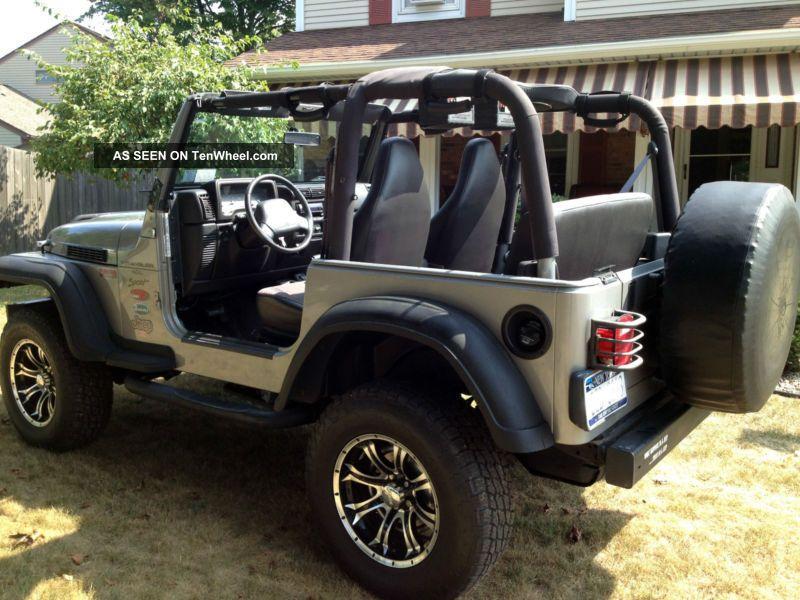 Jeep Wrangler Low Millage Raised Tires Hard Top Soft Top Half Doors Lgw