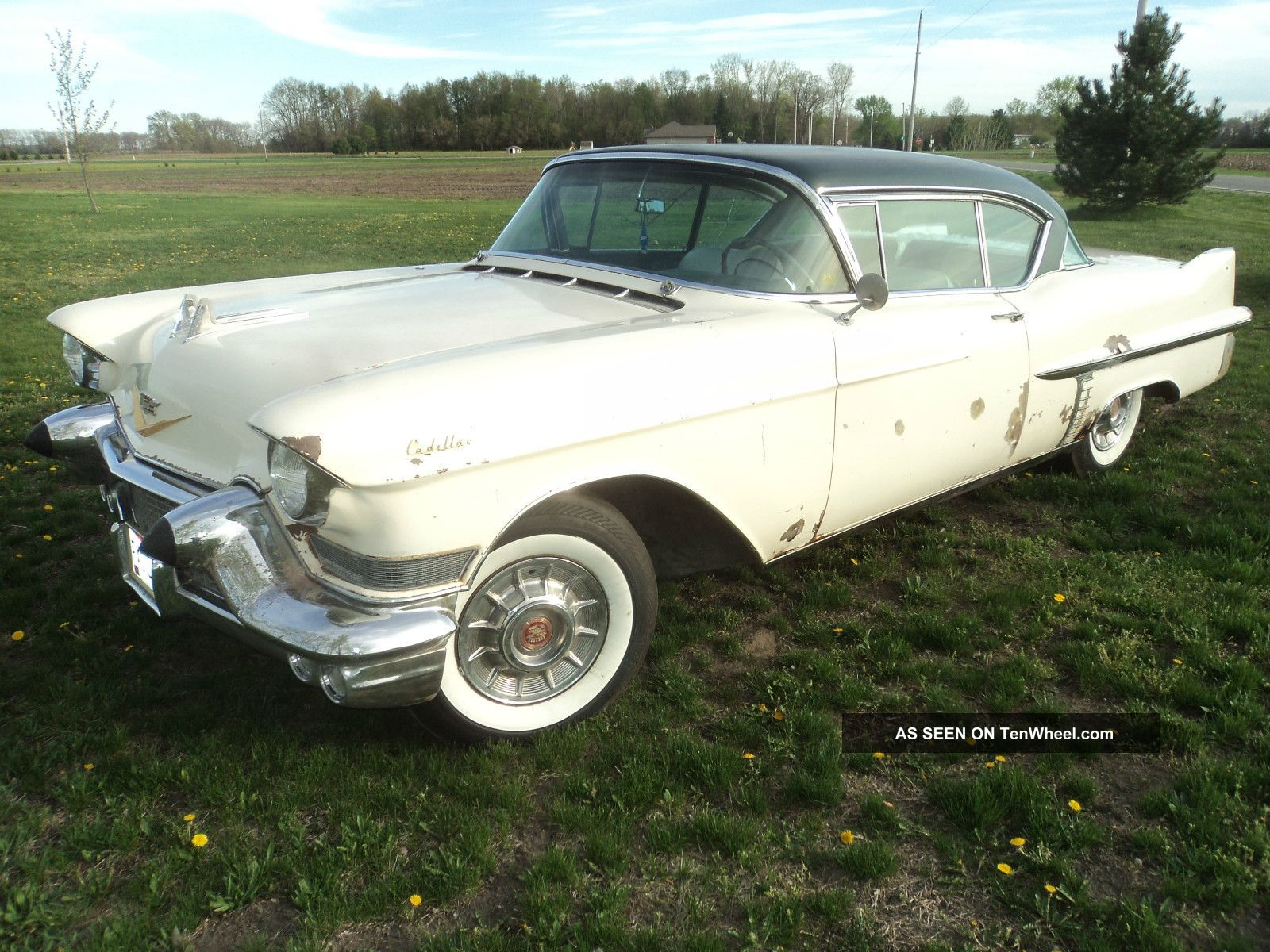 1957 Cadillac Series 62 2 Door Coupe Deville Barn Find Rat Rod Gasser Low Rider Other photo
