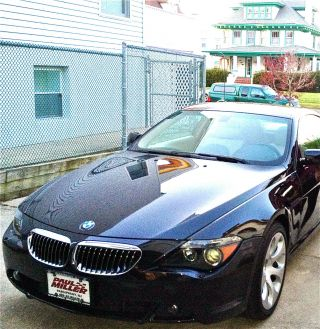 2006 Bmw 650i Coupe Black / Cream Sport / Cold Weather Packge photo