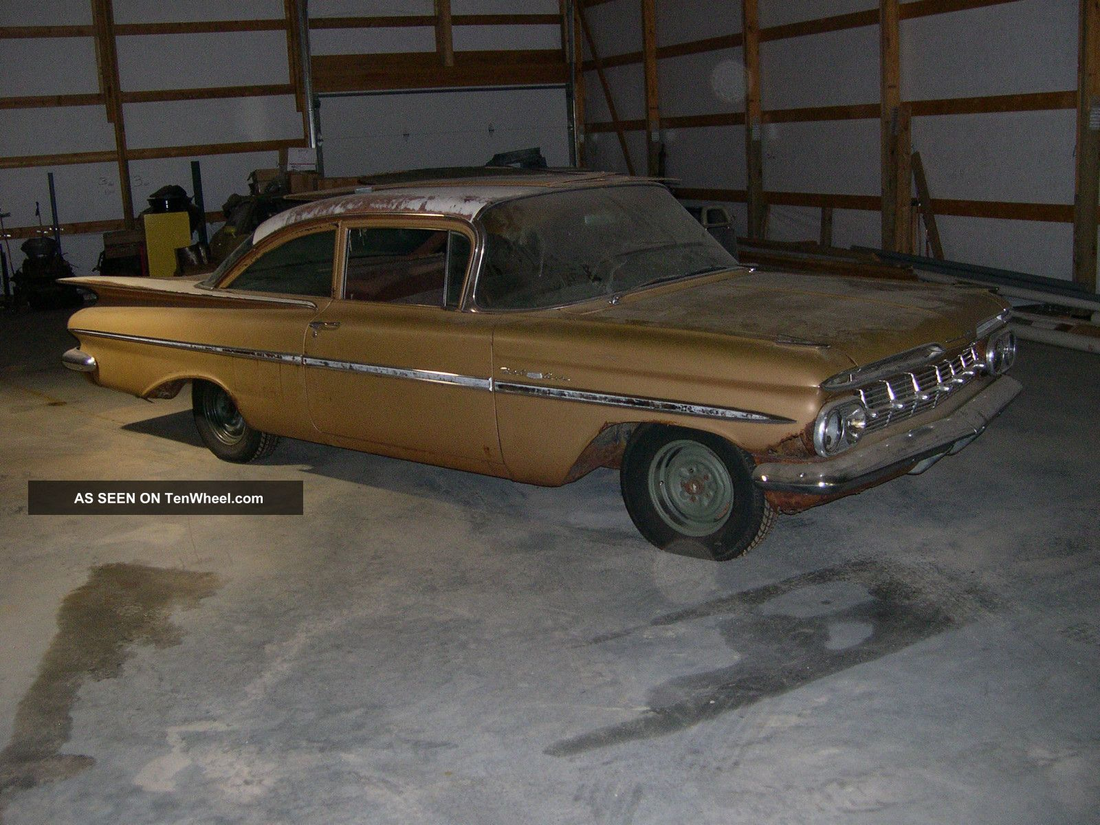 1959 Chevrolet Bel Air Impala Hot Rod Project Car 6 Cylinder 3 Speed Bel Air/150/210 photo