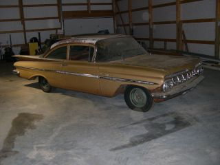 1959 Chevrolet Bel Air Impala Hot Rod Project Car 6 Cylinder 3 Speed photo