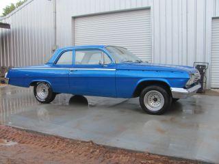 1962 Chevy Bel Air Barn Find Ss Clone Car 6cyl.  3 Speed Car Very Stock Lqqk photo