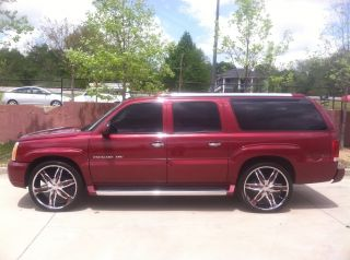 2004 Cadillac Escalade Esv With $5000 Custom Stereo & Tv,  S And Sitting On 26,  S photo