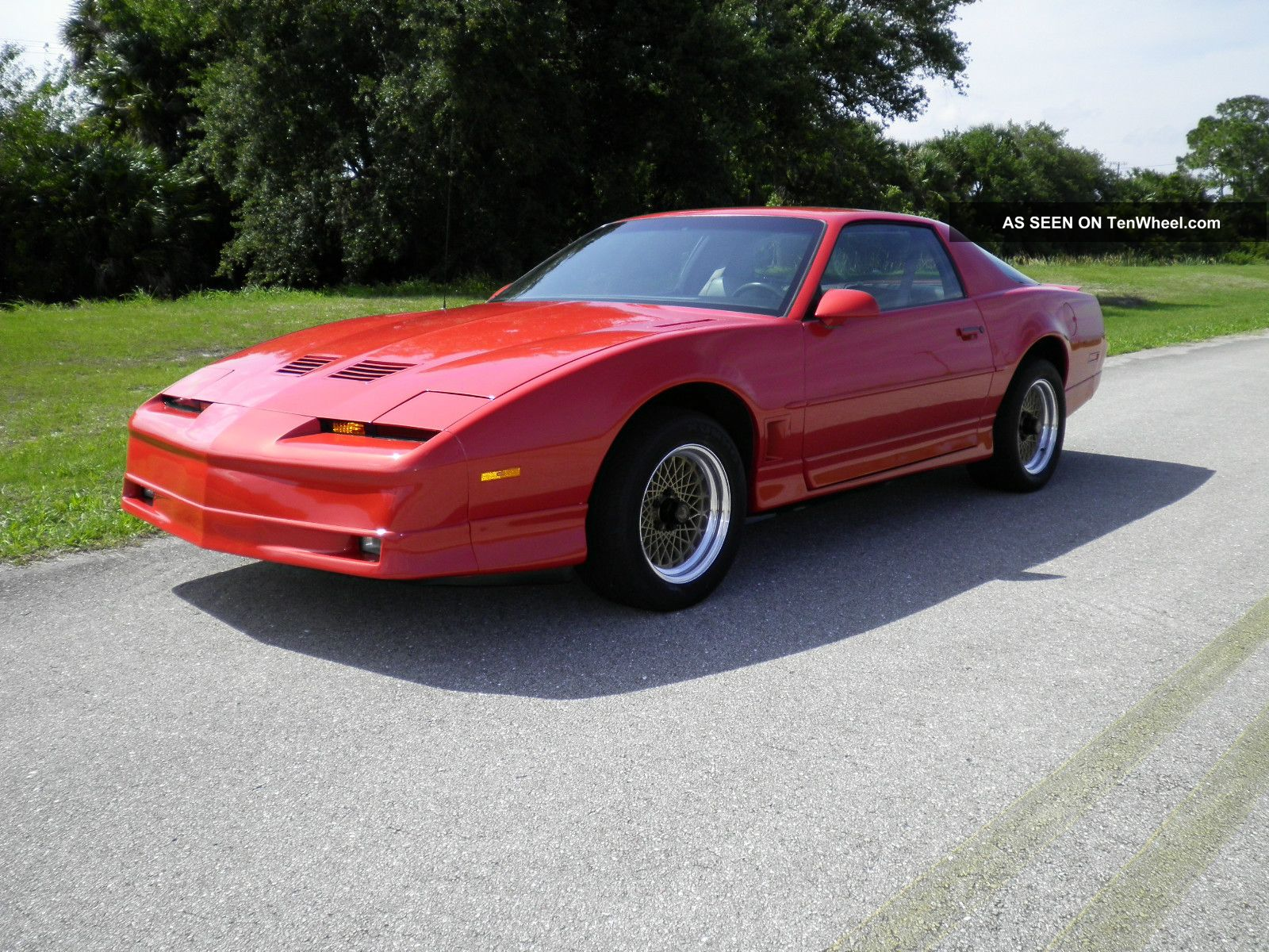 1986 pontiac firebird trans am ws6 six speed hardtop inferno orange 1 of a kind tenwheel