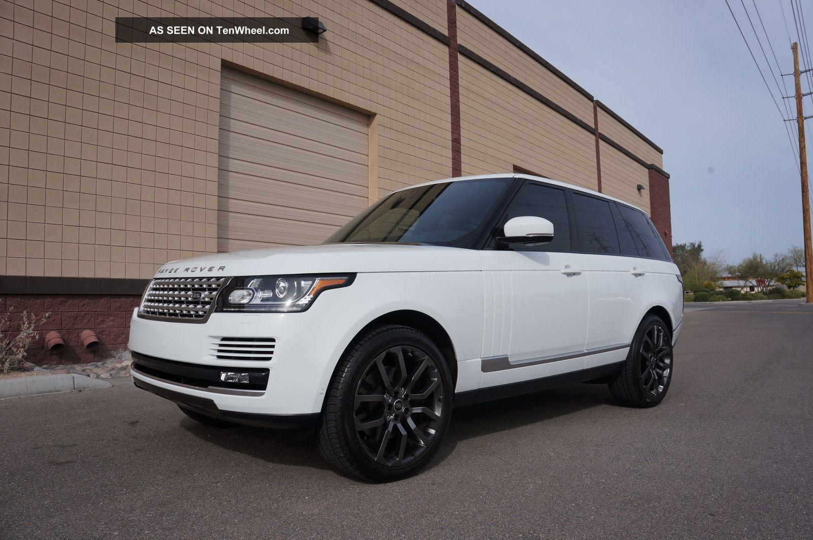 2013 range rover hse white over black 22 meridian. Black Bedroom Furniture Sets. Home Design Ideas