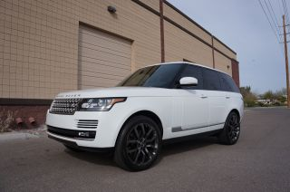 2013 Range Rover Hse,  White Over Black,  22