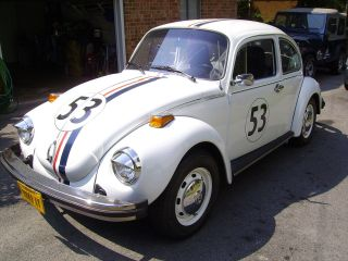1974 Vw Beetle Bug Herbie The Love Bug Replica Look photo