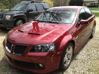 2009 Pontiac G8 Gt 6.  0l V8 Sport Red Metallic photo