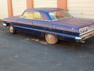 1963 Chevy Impala 2dr Hardtop _great Project Car photo