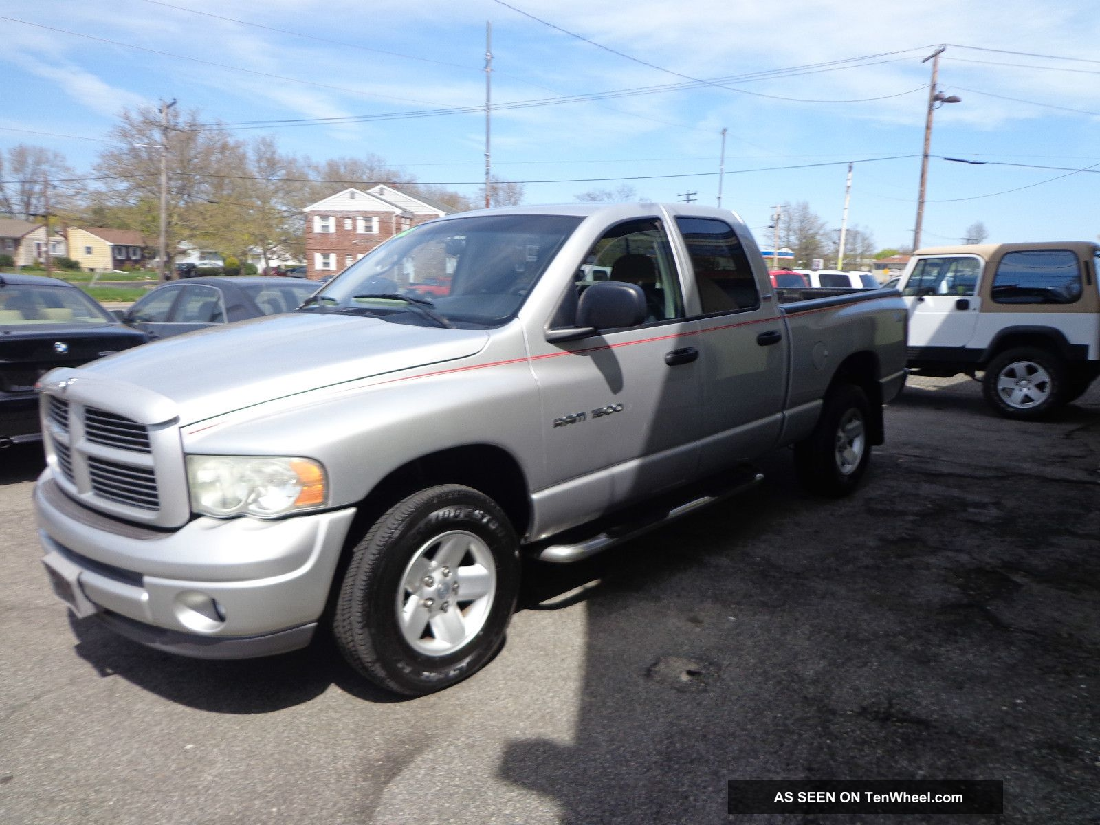 2002 Dodge Ram 1500 Slt Crew Cab Pickup 4 - Door 4.  7l Ram 1500 photo