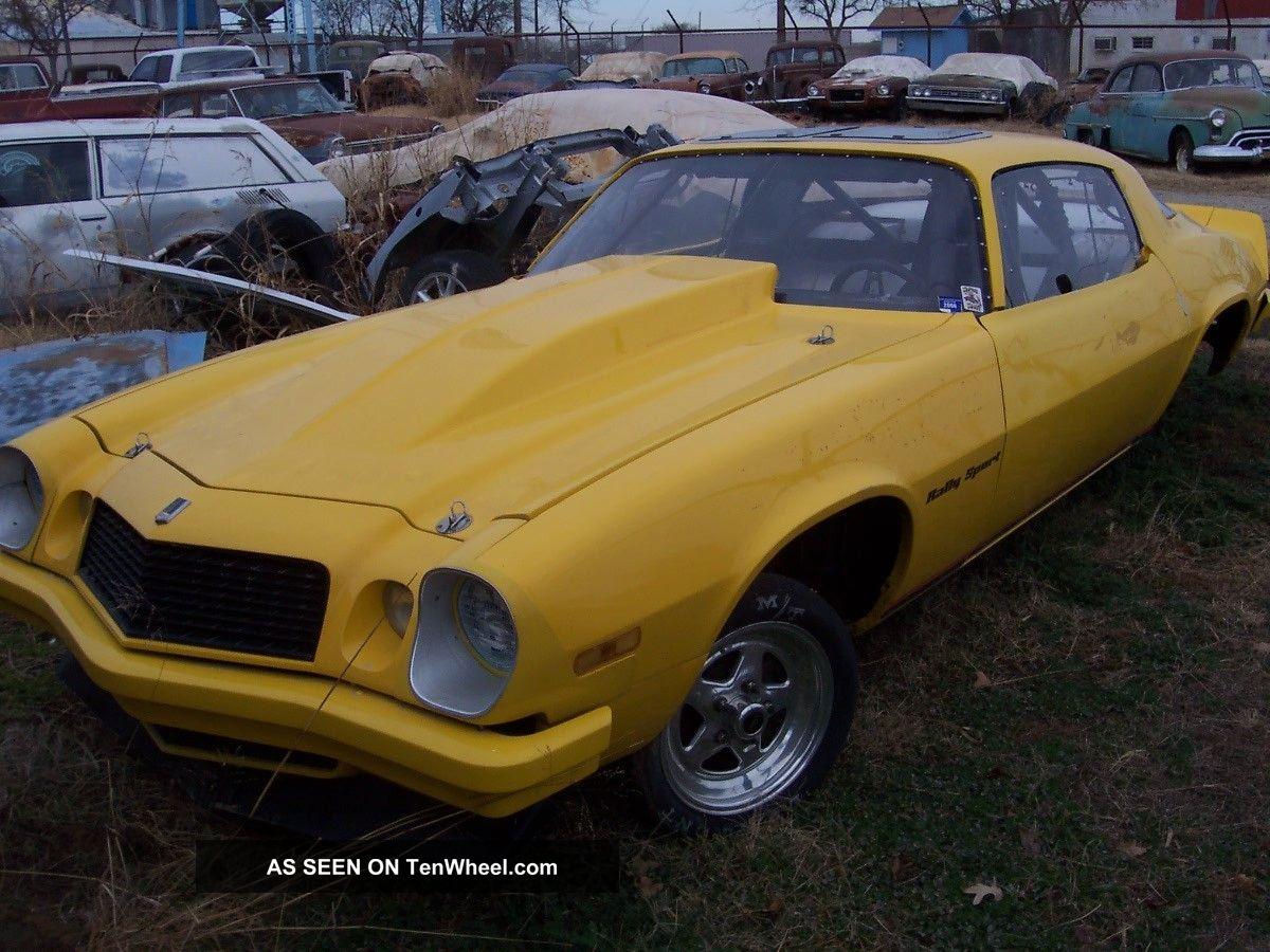 1976 Camaro Drag Car Chevy Yellow