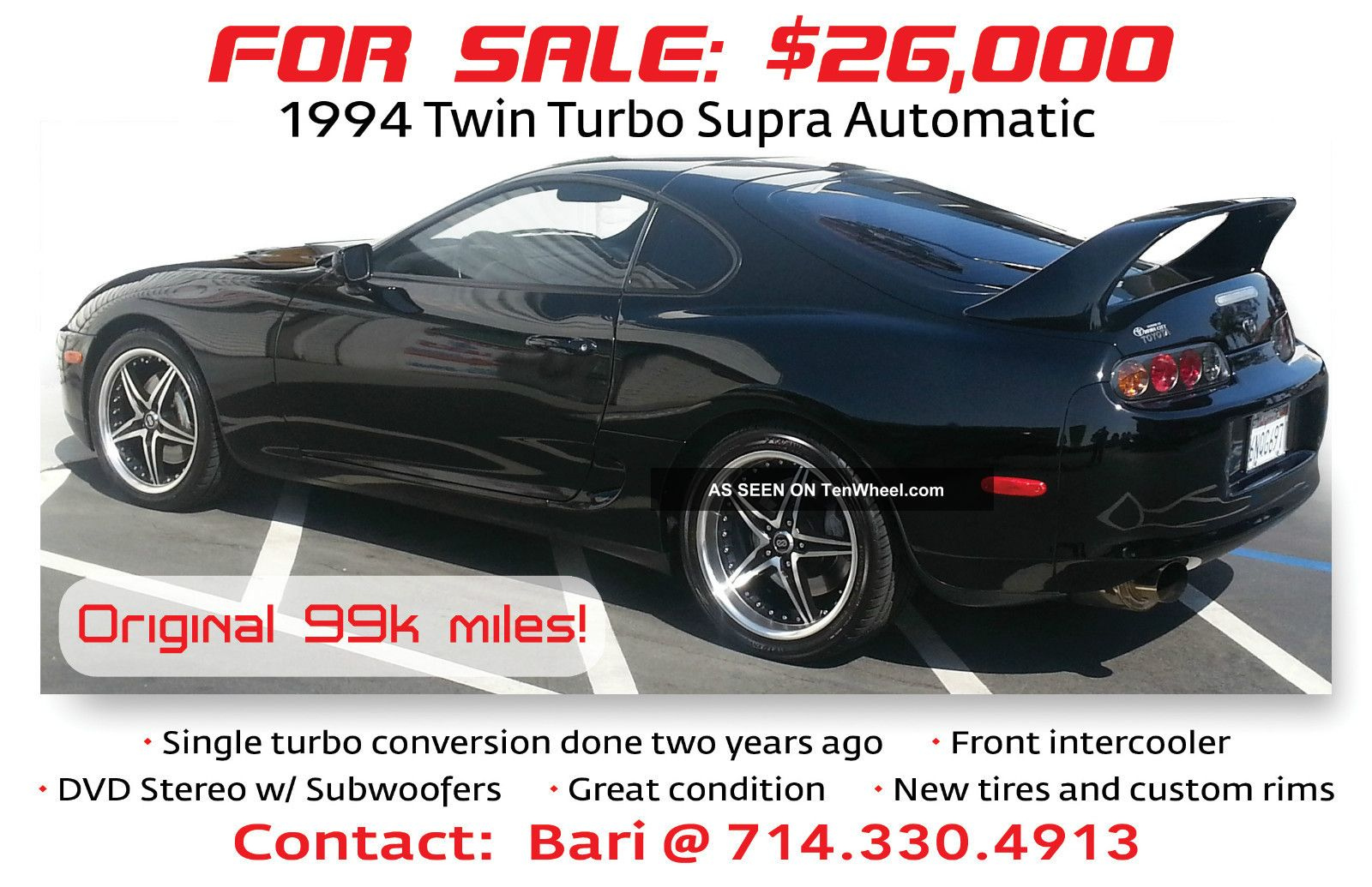 1994 Toyota Supra Twin Turbo Hatchback 2 - Door 3.  0l Supra photo