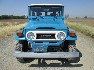 Fj 40 1978 California Car Blue Plates Land Cruiser Fj40 photo