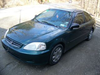1999 Honda Civic Dx,  2 Door Coupe,  Auto,  Hunter Green,  Tinted Windows,  Sporty photo