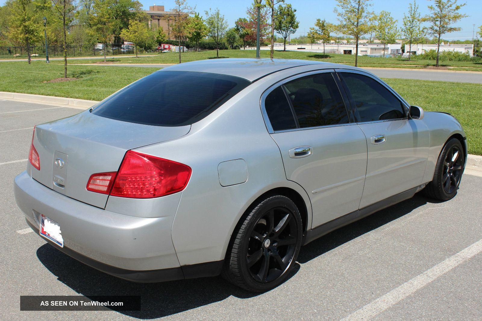 2003 infiniti g35 base sedan 4 door 3 5l coupe wheels. Black Bedroom Furniture Sets. Home Design Ideas