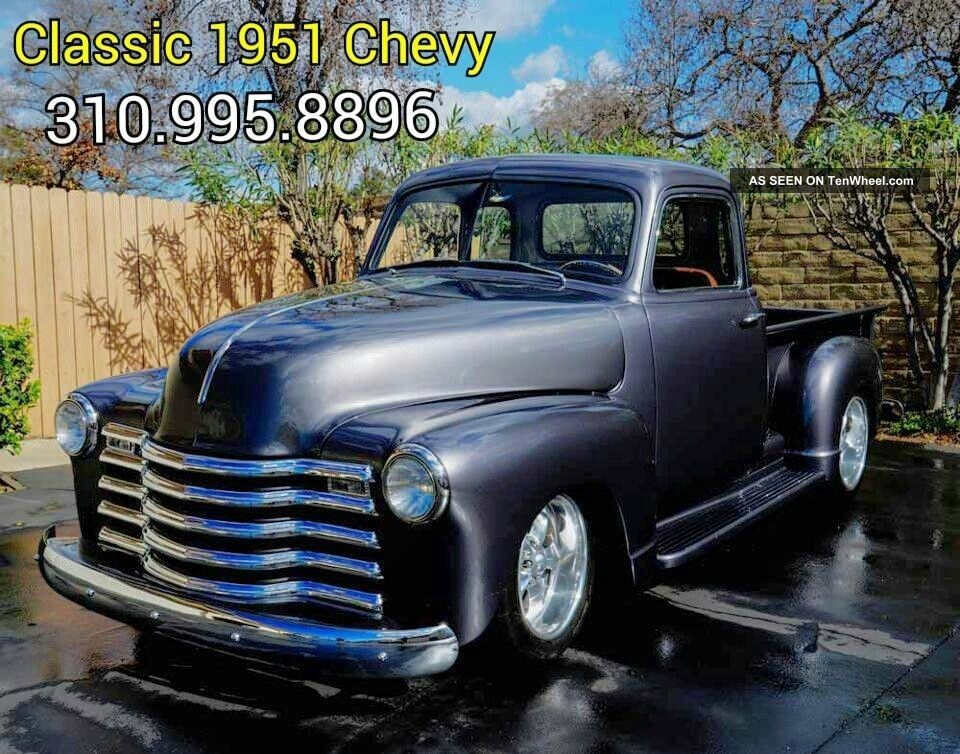 1951 Chevrolet 3100 Truck 5 Window - Restomod Tci Frame Blown W / 425hp Other Pickups photo