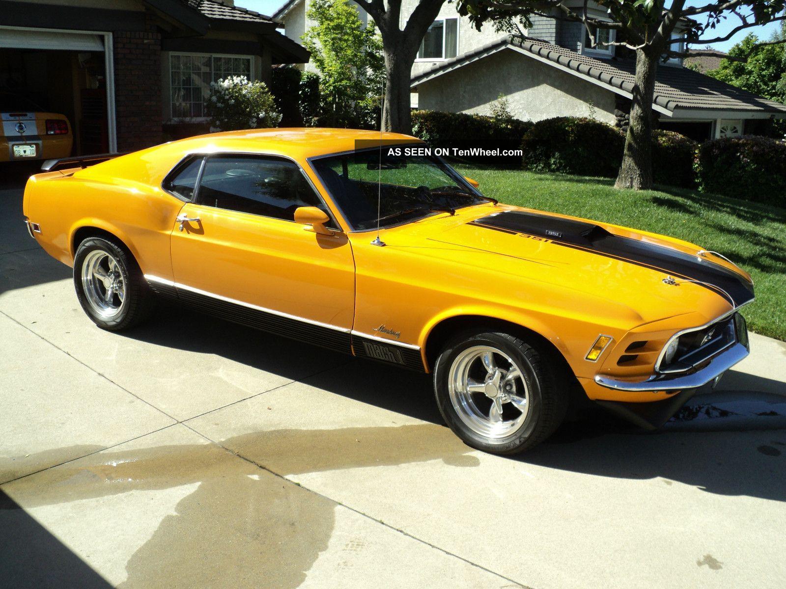 1970 Mustang Mach 1 Fastback 4 Speed Total Restoration