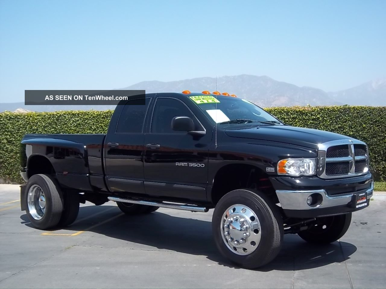 2004 Dodge Ram 3500 4x4 Dually With 22.  5 Semi Wheels And Tires,  Lifted,  Loaded Ram 3500 photo