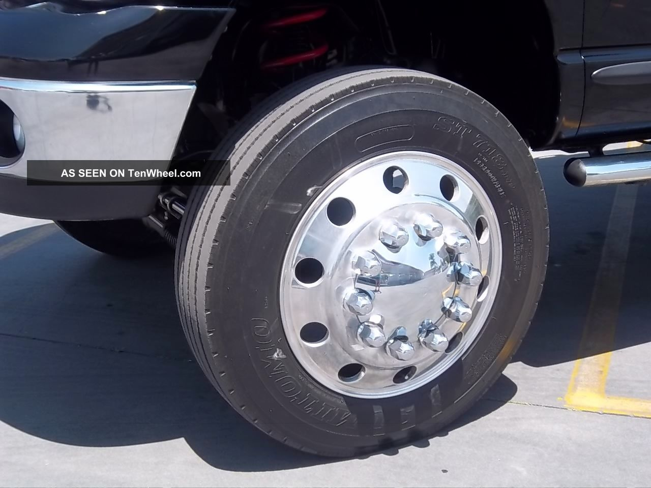 2004 dodge ram 3500 4x4 dually with 22 5 semi wheels and tires lifted loaded