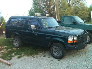 1995 Ford Bronco Xl Sport Utility 2 - Door 5.  8l - - 8000lb.  Winch - - Patrol Lights - - - - - photo
