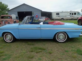 1962 Lark Convertible V - 8 259 3sp Overdrive Drive Anywhere Sky Blue Baby Doll photo
