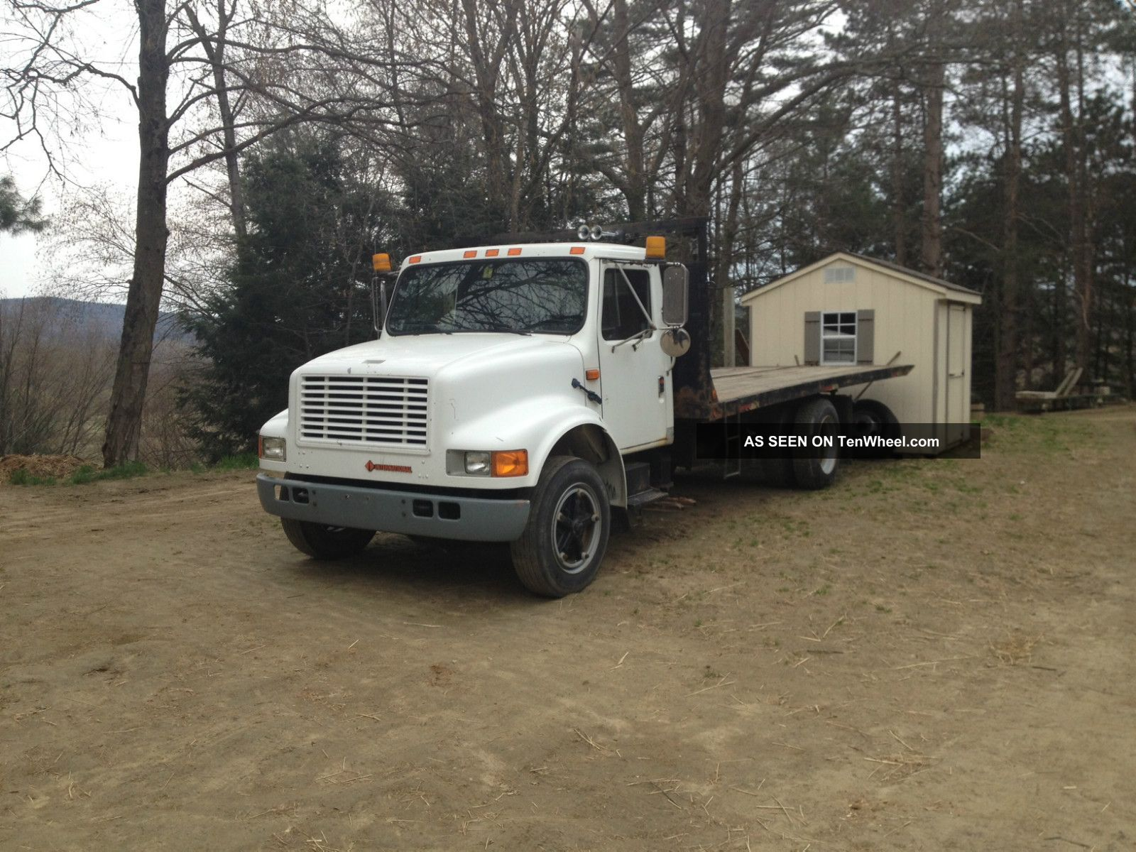 1991 International 4700lp Rollback Car / Equipment Hauler Dt466 6 Sp Air Brakes Other photo