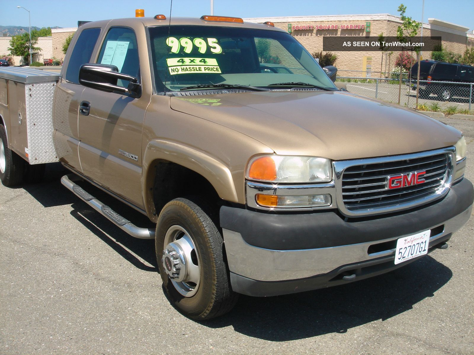 2001 gmc sierra 3500hd dually 4x4 extended cab utility. Black Bedroom Furniture Sets. Home Design Ideas
