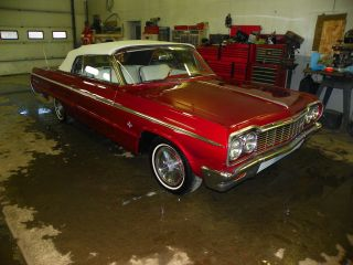1964 Impala Ss Convertible 4sp,  Driver Quality 409 Badges photo