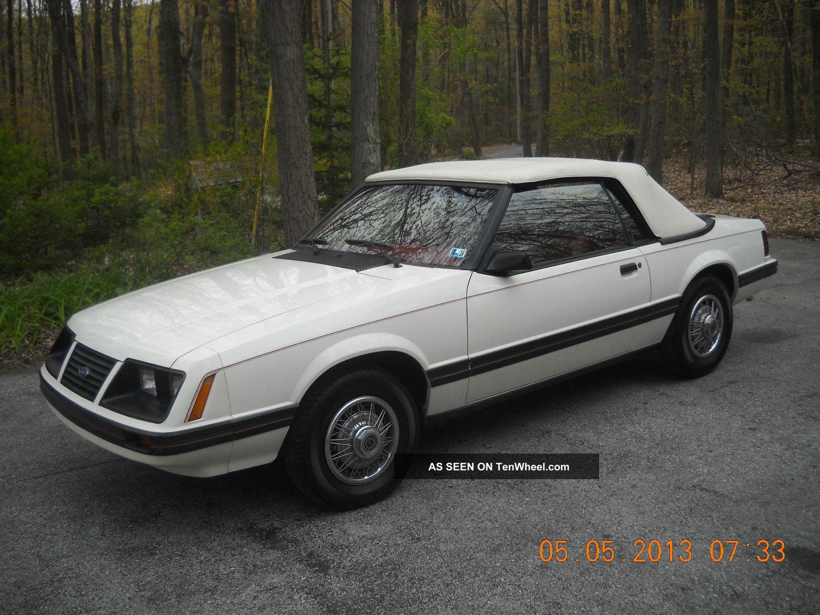 1983 ford mustang glx convertible 2 door 3 8 v 6. Black Bedroom Furniture Sets. Home Design Ideas