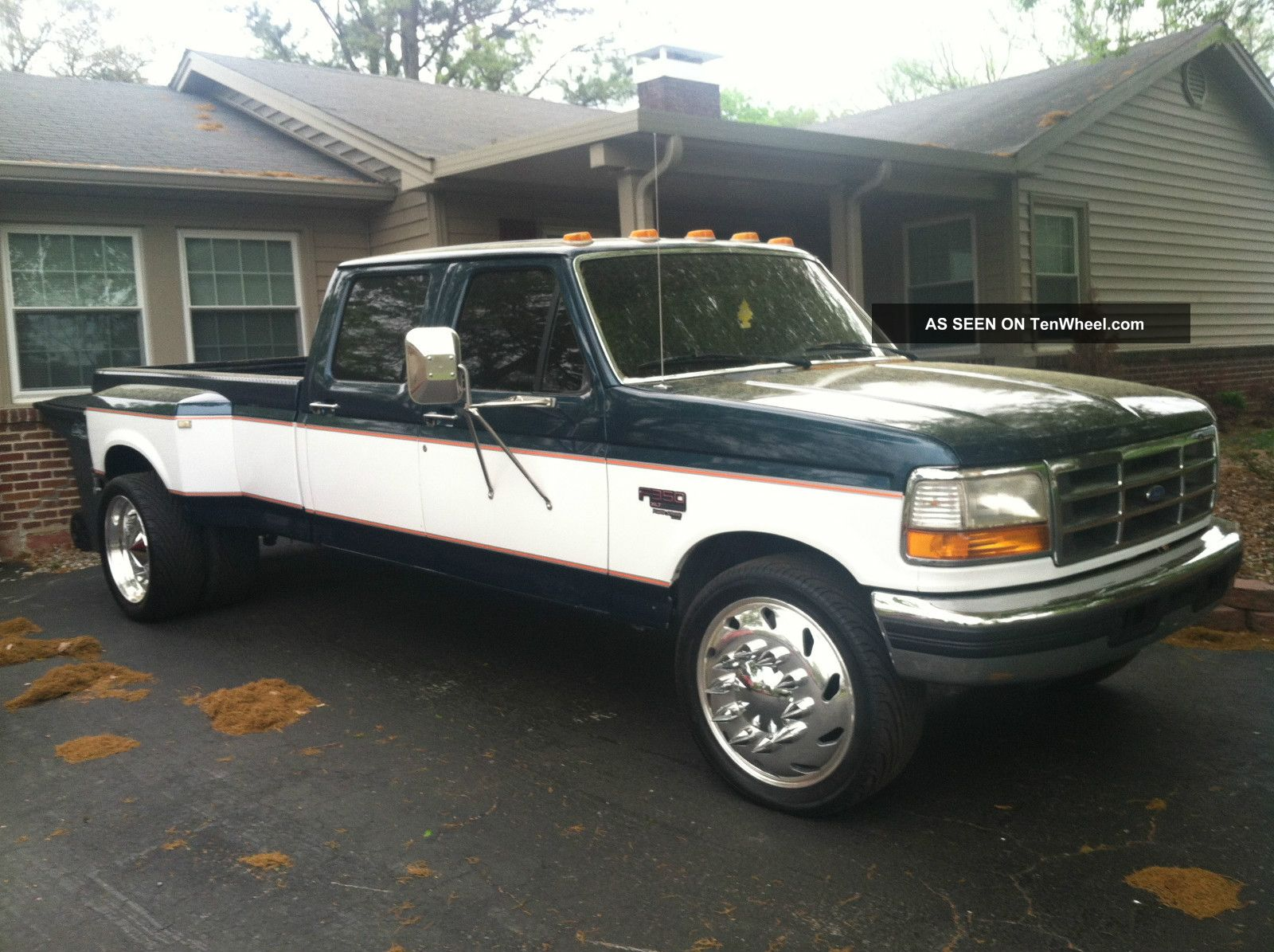 1997 Ford F350 Powerstroke Dually On Semi Wheels