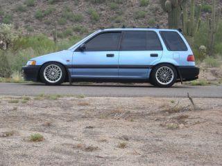 Blue 1989 Civic Wagovan Wagon photo