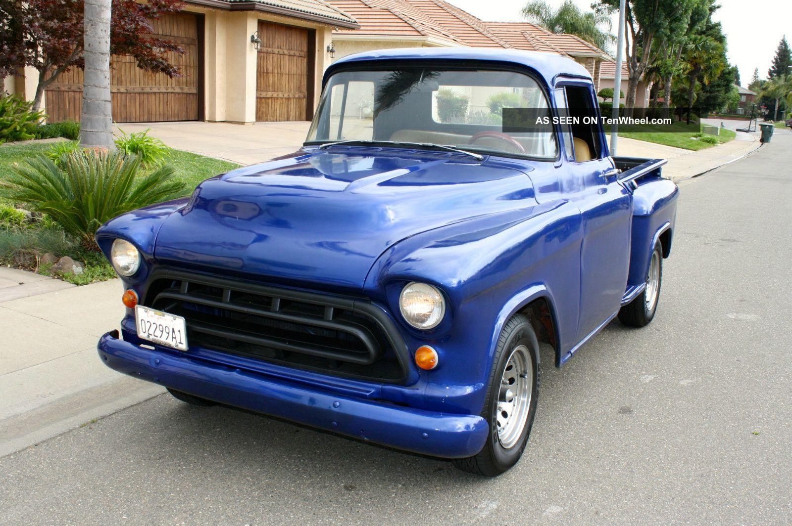 1957 Chevrolet Stepside Pickup Short Bed Hot Rod 1955 1956 Chevy Truck 1958 1959