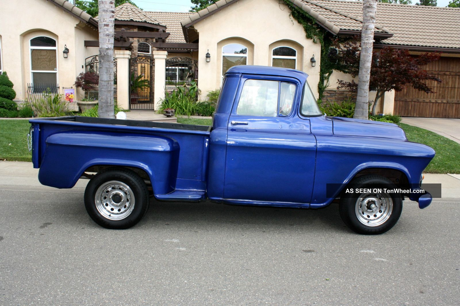 1957 chevrolet stepside pickup short bed hot rod. Black Bedroom Furniture Sets. Home Design Ideas