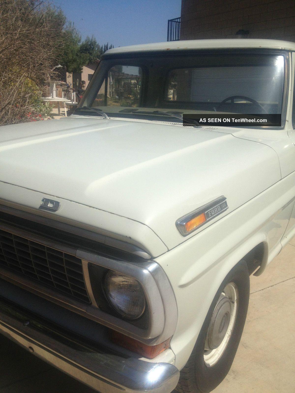 1970 ford f 100 custom longbed pickup truck rare 360. Black Bedroom Furniture Sets. Home Design Ideas