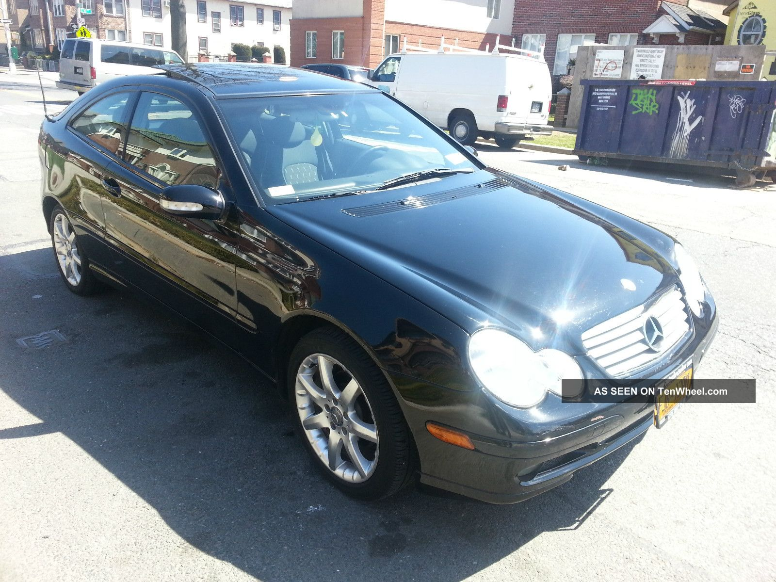 2002 mercedes benz c230 kompressor coupe 2 door 2 3l