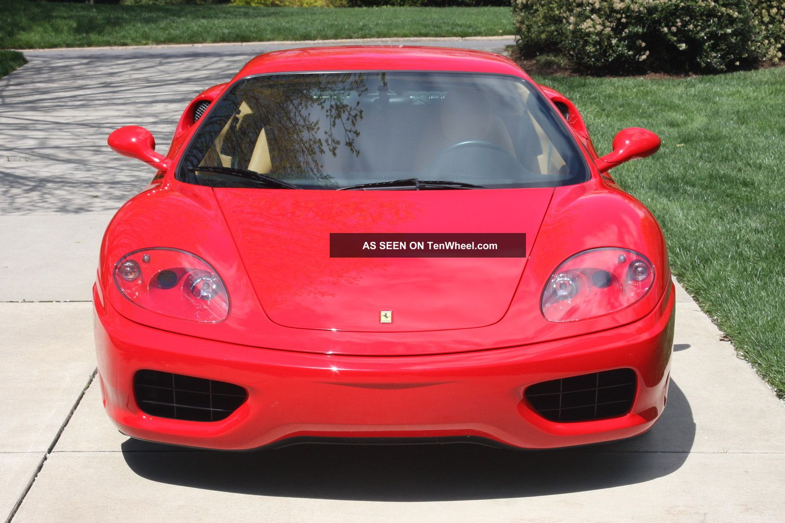 2001 Modena,  Red / Tan,  F1 Auto / Paddles,  Challenge Grill,  Red Calipers,  Shields 360 photo