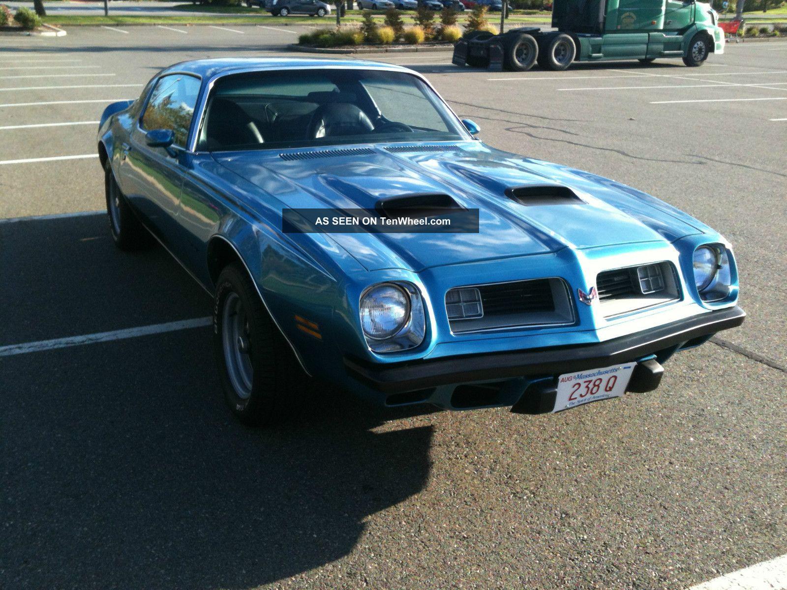 1975 Pontiac Firebird Formula 350 Tribute 4 Speed Trans Am