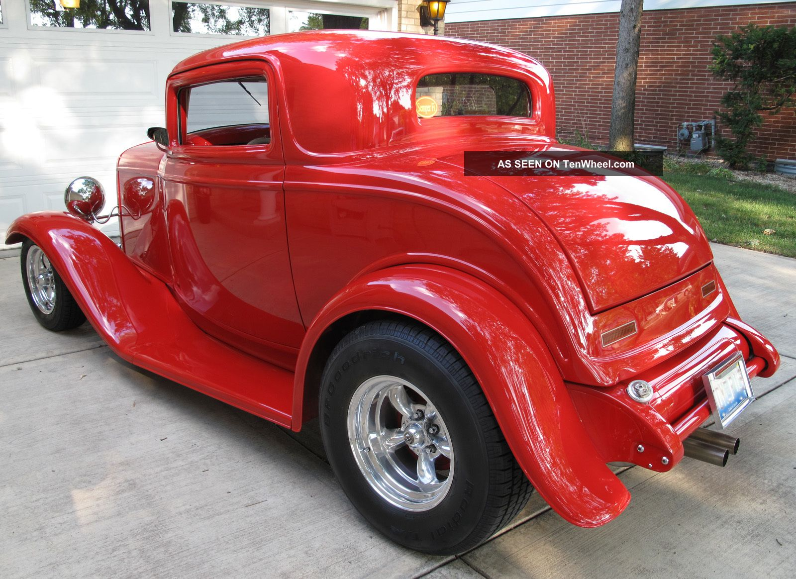 1932 ford red 3 window coupe hot rod for 1932 ford 3 window coupe hot rod