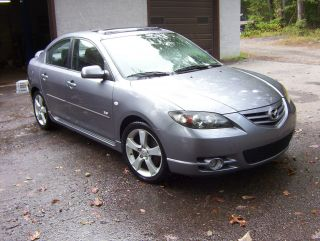 2004 Mazda3 Gray S Sport Stick Shift Inspected Needs Engine Rod photo