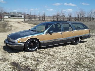 1993 Buick Roadmaster Estate Wagon 3rd Row Seats Mild Custom Belltech Spindles photo