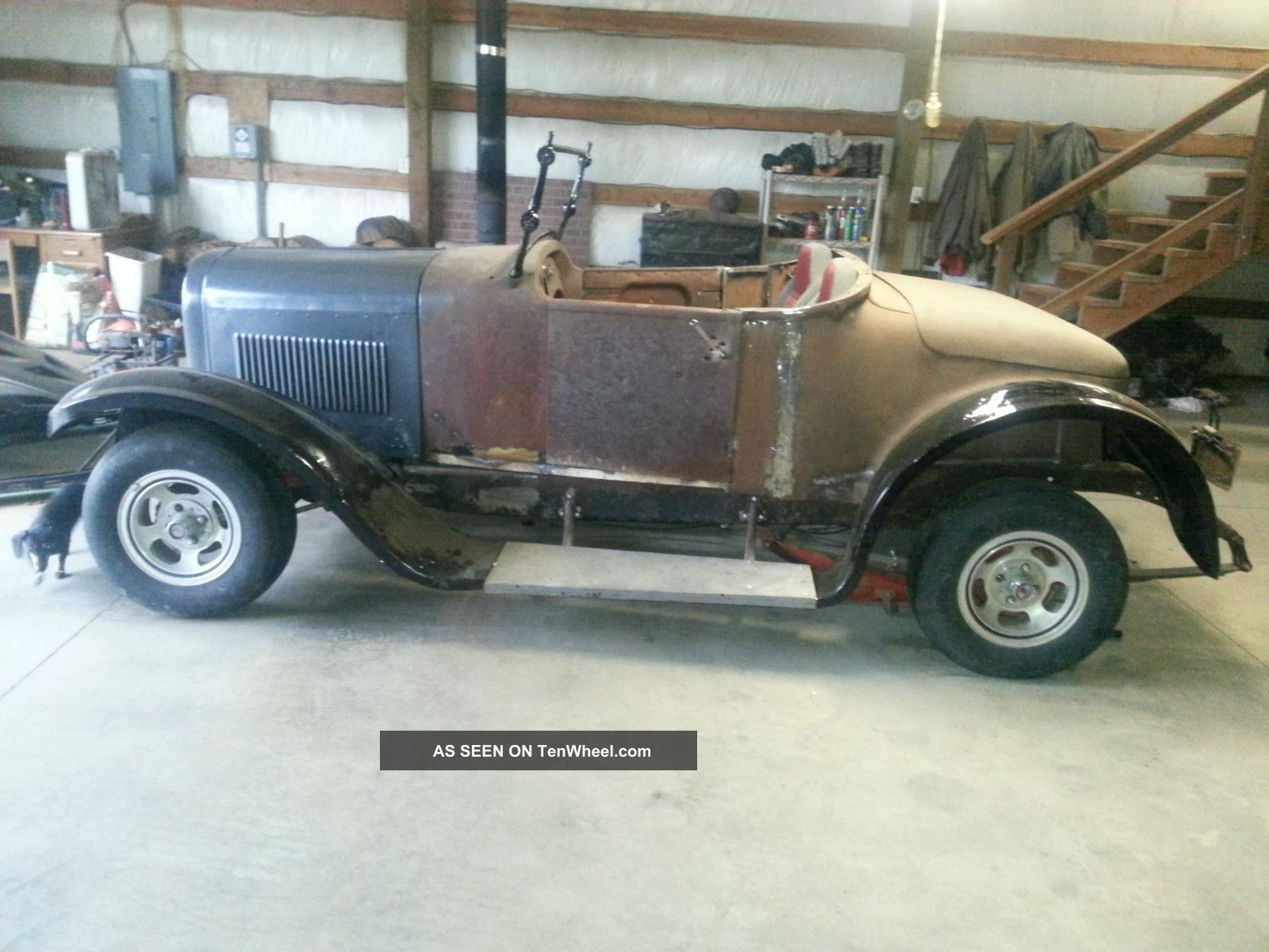 """1925 Dodge Roadster """" Rat Rod Style """" Pinto Running Gear Mustang Ii Clip Project"""