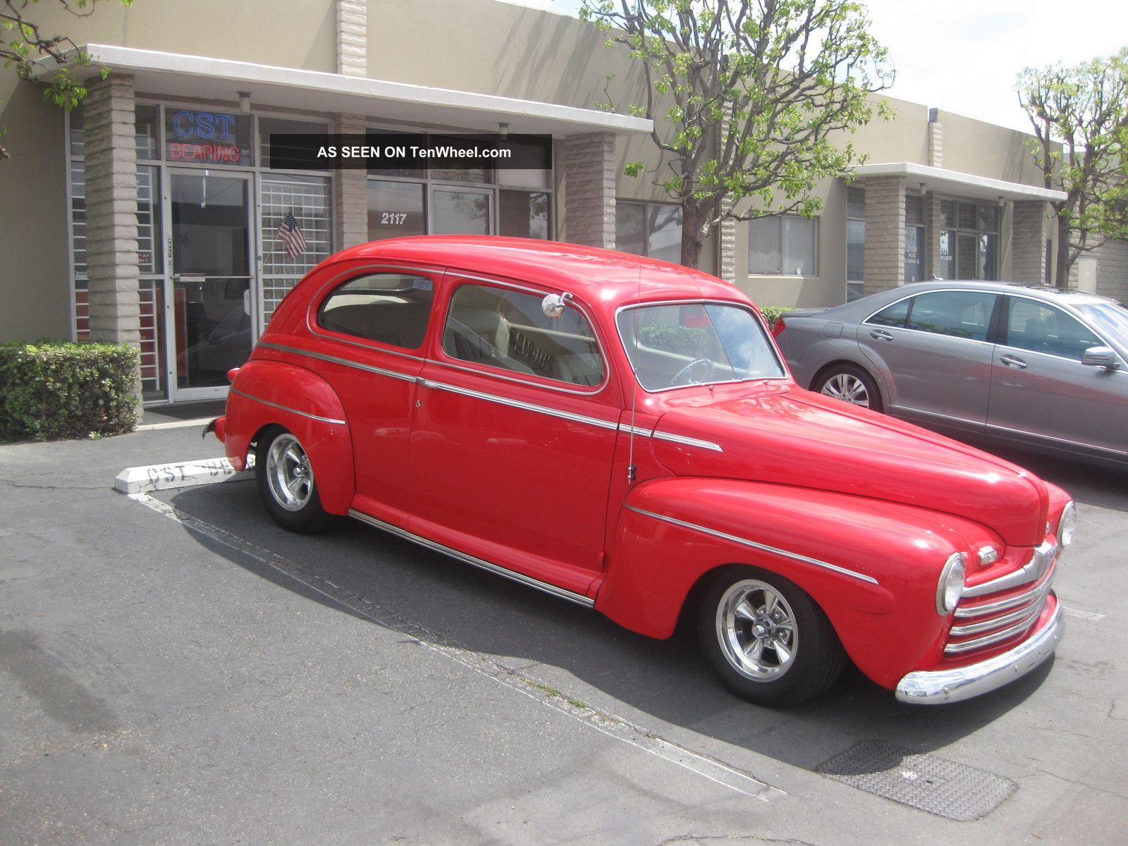 1946 ford 2 door sedan a c chevy 350 700r overdrive