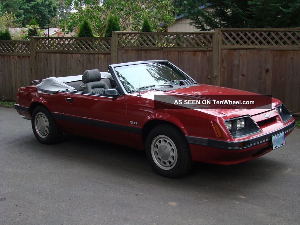 1985 Ford Mustang Lx Convertible With 5.  0 (302) Mustang photo