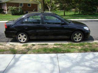2004 Honda Civic Ex Sedan 4 - Door 1.  7l - Black - Excellent Running Condition photo