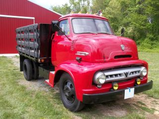 1953 Ford C600 Antique Stake Body Truck photo