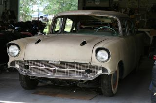 1957 Chevy Chevrolet 210 4 Door Post Project Car Almost Complete photo