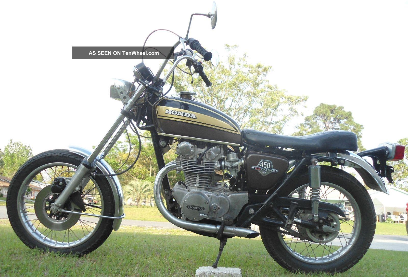 1974 Honda Cb450 Cb 450 Dohc Chopper Easy Rider CB photo