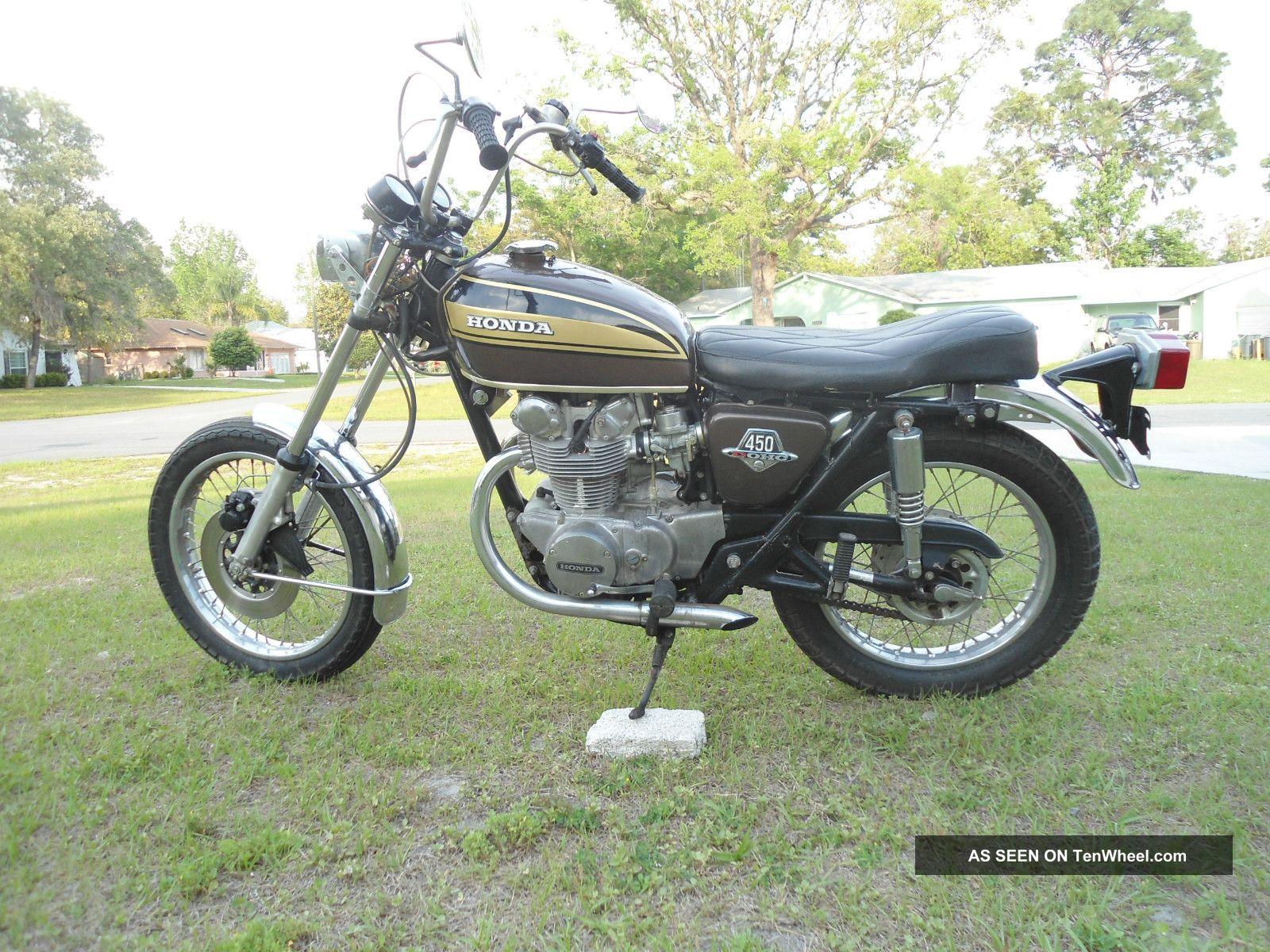 1974 Honda Cb450 Cb 450 Dohc Chopper Easy Rider