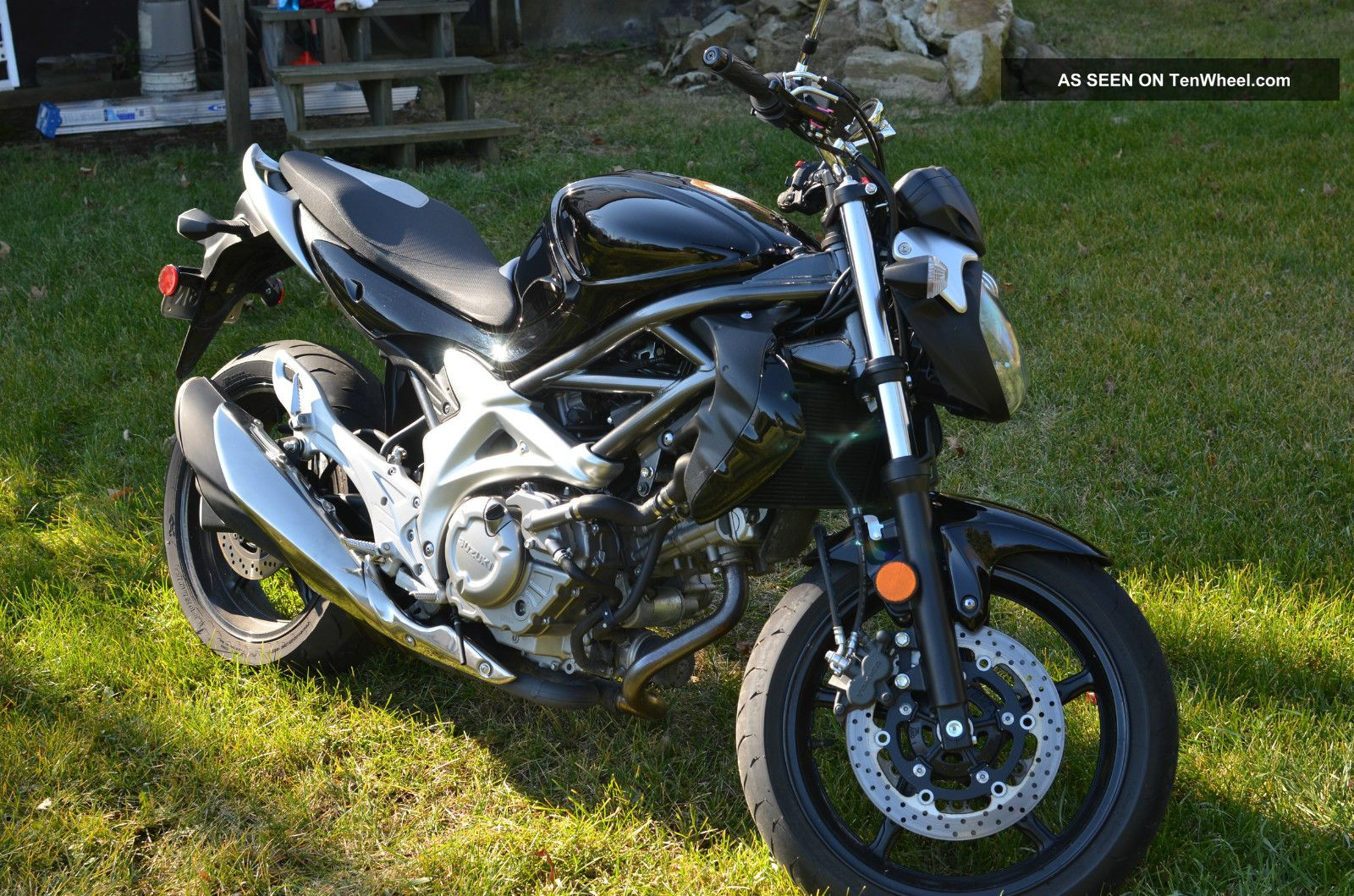 Suzuki Gladius Sv650 Sfv650 2009 Black Silver SV photo